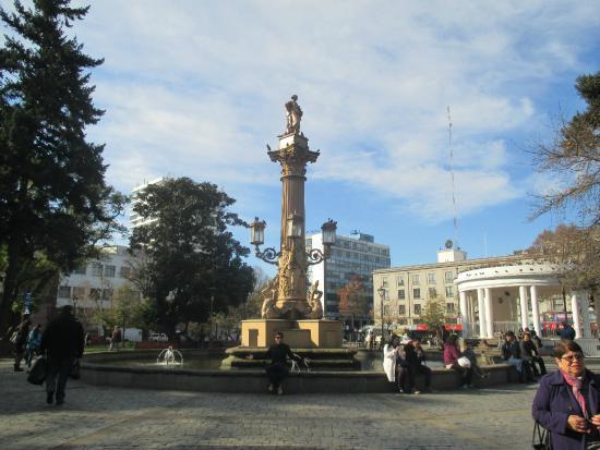 ¿Dónde está?: Buscan significativa escultura mapuche sustraída desde Plaza de la Independencia en Concepción - Canal 9 Bío Bío Televisión